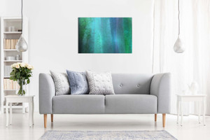 Abstract Blue Teal Grunge Canvas
