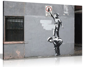Banksy Graffiti Is A Crime Canvas