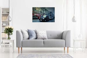 London Black Cab Taxi Canvas