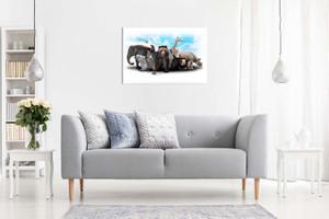 Wild Animals Nursery Canvas