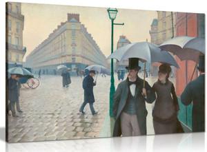 Paris Street Rainy Day Gustave Caillebotte Canvas