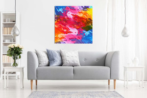 Abstract Modern Art Home Acrylic Colourful Canvas
