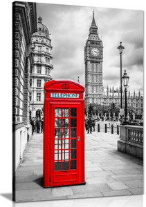 London Red Telephone Box Canvas