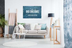 Motivational Quote Rustic Have Big Dreams Canvas