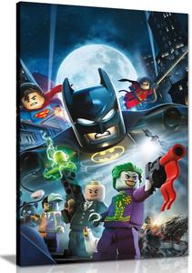 Lego Batman Superman Robin And Villains Kids Canvas