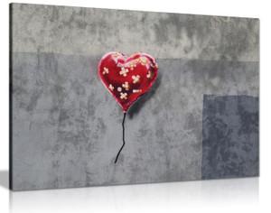 Bandaged Heart Balloon Banksy Canvas