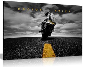 Doctor Rules Valentino Rossi Yamaha Motogp Canvas