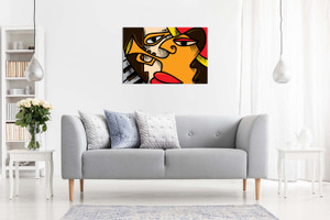 Abstract Jazz Art Music Cubism Canvas