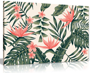 Trendy Tropical Canvas Wall Art Picture Print