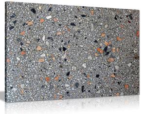 Terrazzo Black Stones Canvas Wall Art Picture Print