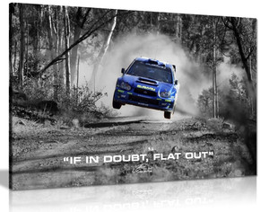 Subaru Wrx Rally Car Colin Mcrae If In Doubt Flat Out Quote Canvas Wall Art Picture Print