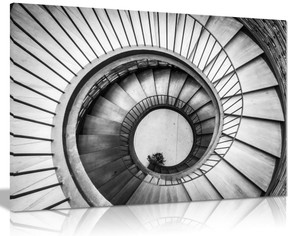 Spiral Stairway Canvas Wall Art Picture Print