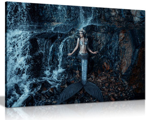 Real Mermaid Fish Ocean Fantasy Canvas Wall Art Picture Print