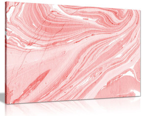Pink Marble Canvas Wall Art Picture Print