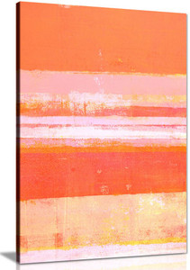 Orange Abstract Painting Canvas Wall Art Picture Print