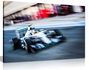 Mercedes F1 Hamilton Canvas Wall Art Picture Print