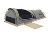 Kodiak Canvas Swag tent with cover folded back