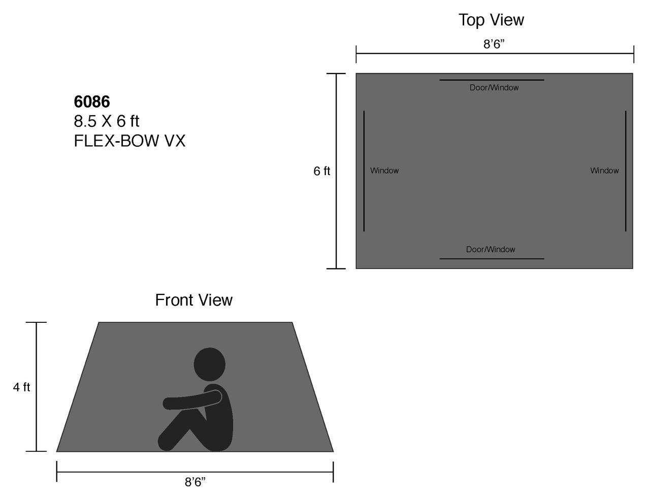 8.5 x 6 ft. Flex-Bow VX Tent - Estimated Restock Date Nov. 1st, 2021
