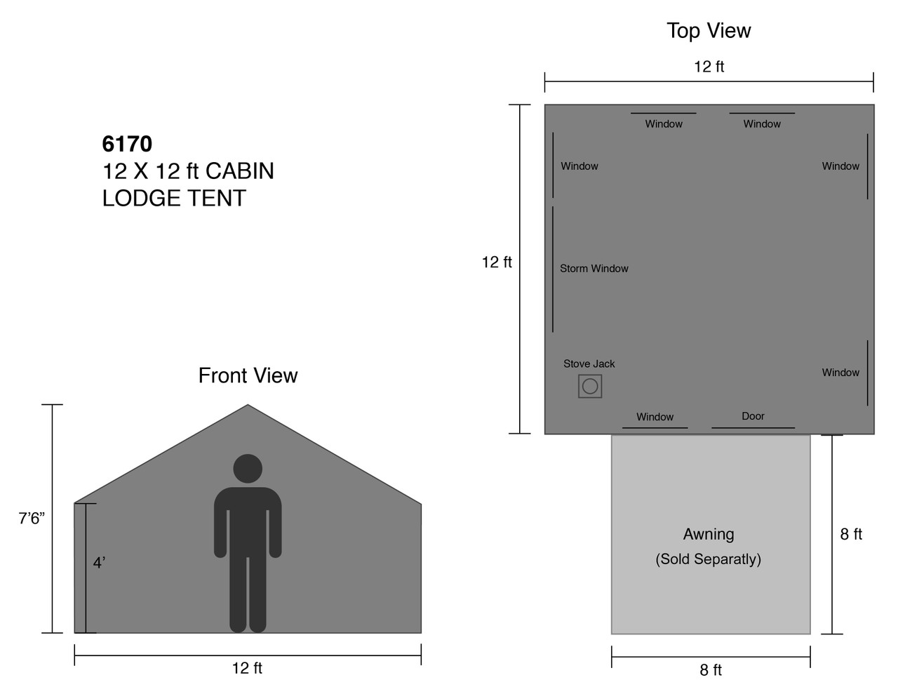 12x12 ft. Cabin Lodge Tent