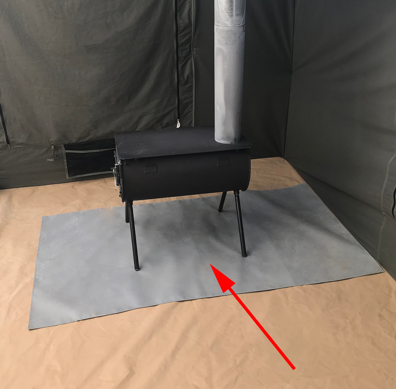 1577 Stove Mat (stove and tent sold separately)