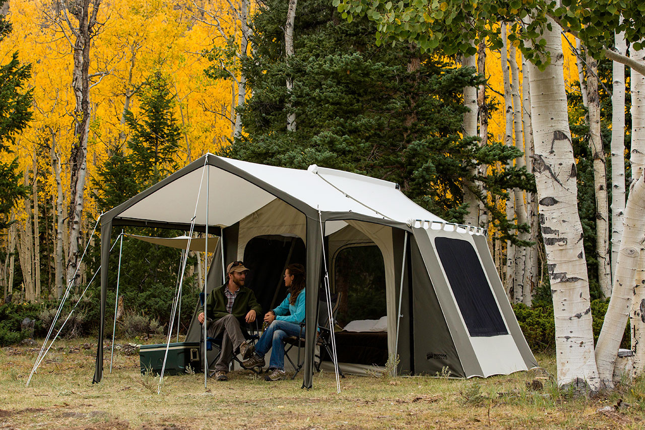 12 x 9 ft. Cabin Tent with Deluxe Awning- Estimated restock date 4/10/19