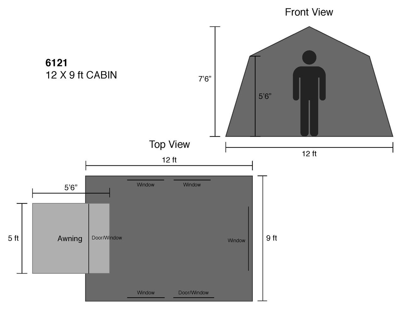 12 x 9 ft. Cabin - Estimated Restock Date Sep. 1st, 2021