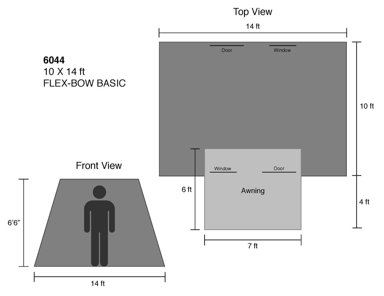 10 x 14 ft. Flex-Bow Canvas Tent Basic