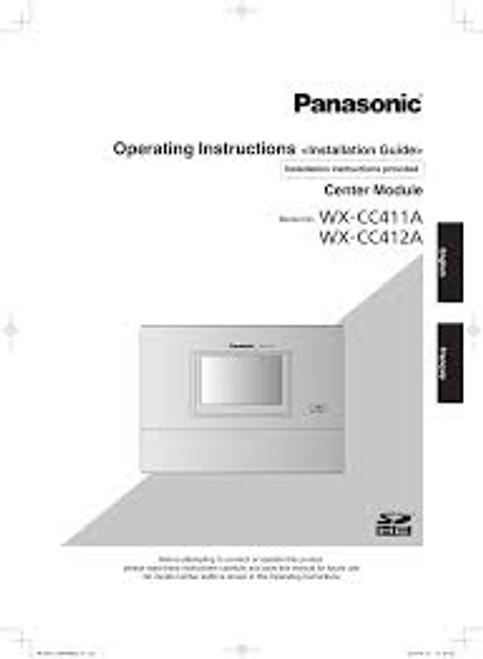 Panasonic Attune II WX-CC411 & WX-CC412 Installation Manual