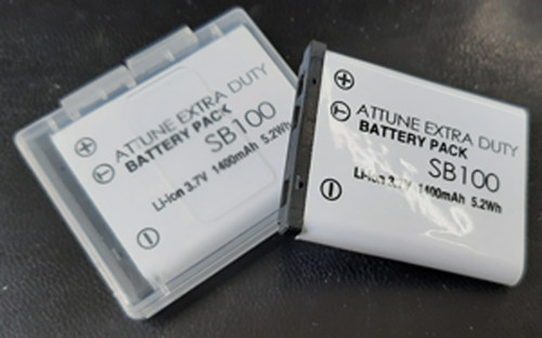 ATTUNE SB100 EXTRA DUTY Li-Ion 3.7V 5.2Wh BATTERY for use in the WX-CH455 Headset