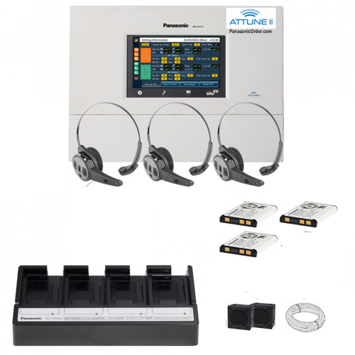Panasonic Attune II - SINGLE LANE  -THREE CH455 All-in-one Headset System Package