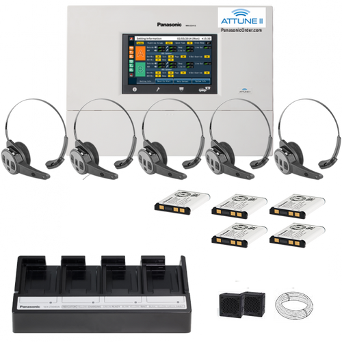 Panasonic Attune II - SINGLE LANE  - FIVE CH455 All-in-one Headset System Package