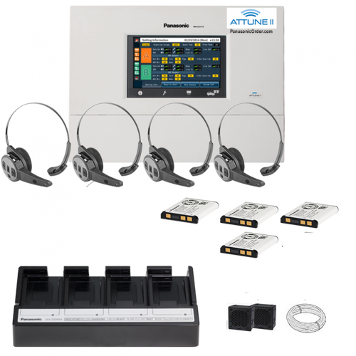 Panasonic Attune II - SINGLE LANE  - FOUR CH455 All-in-one Headset System Package