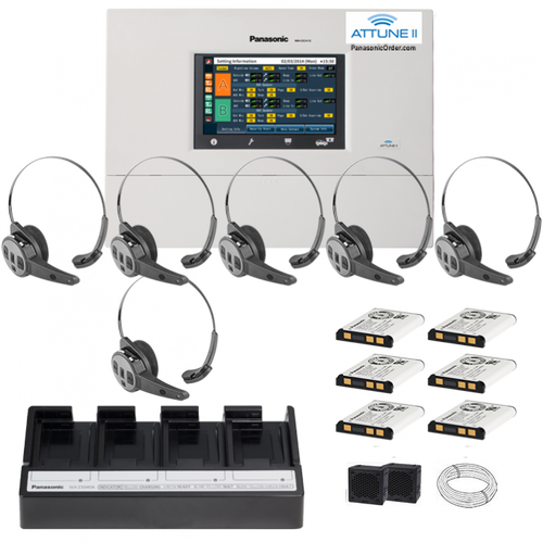 Panasonic Attune II - SINGLE LANE  - SIX CH455 All-in-one Headset System Package