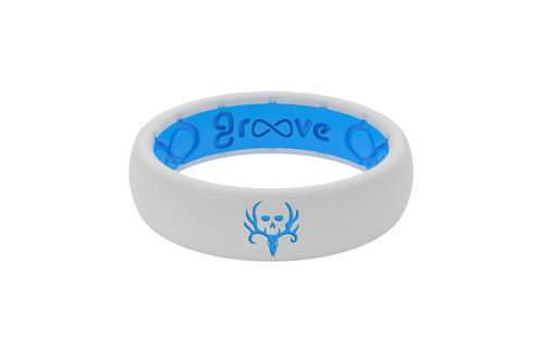 Bone Collector | Groove Life Ring | White Blue