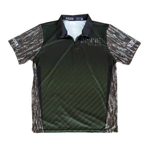Bone Collector RT Original Green - Polo Zipper Short Sleeve Jersey