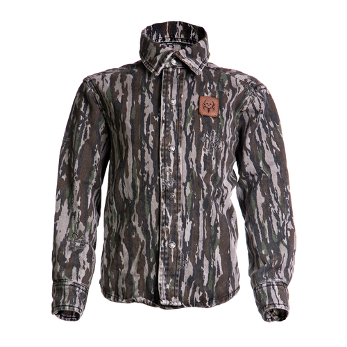 BC Raskulls Camo L/Sleeve Twill Button-Up Shirt