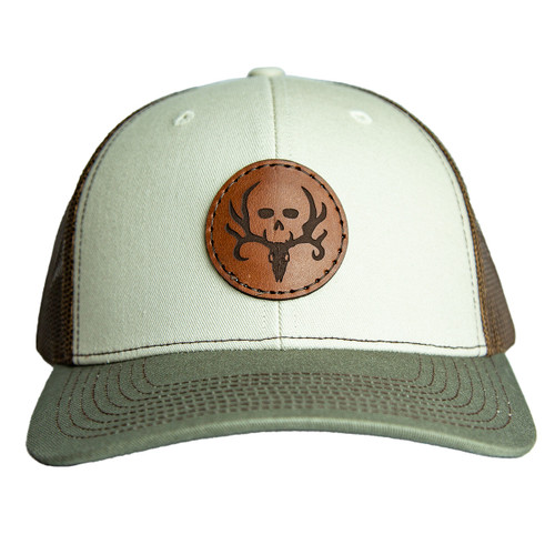 Stone Tri Color Circle Patch Hat front