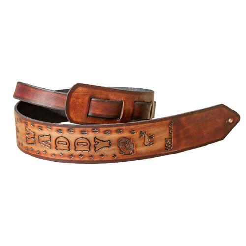 Bone Collector Custom Leather Guitar Sling