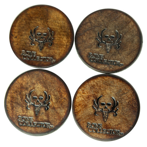 bone collector leather coasters four coasters
