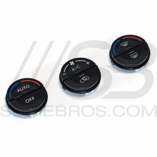 Gloss Black Climate Control Button Set
