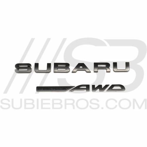 Subaru Trunk Letter Set