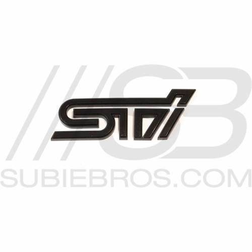STI Trunk Emblem Badge - Black