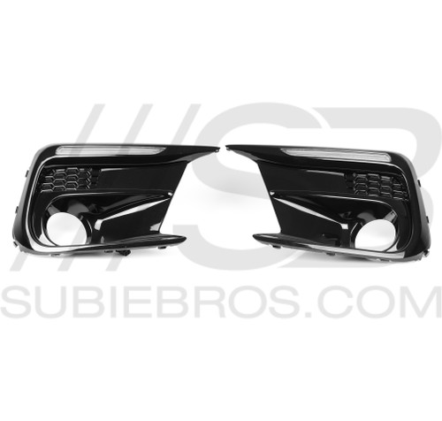 2018+ WRX/STI DRL Fog Light Bezels w/Fog Light Hole - Sequential Turn Signals