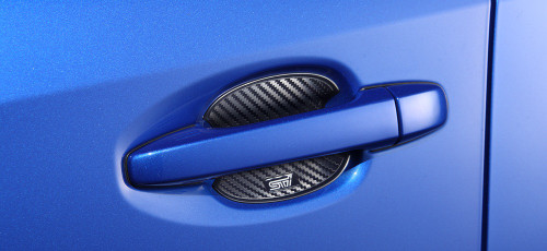 Subaru JDM Door Handle Cup Guards Carbon Fiber Style
