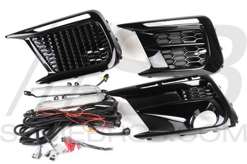 2018+ WRX/STI Subaru JDM Fog Bezel OEM+ Sequential LED Kit