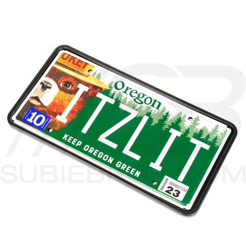 "Subie Bros ""no cover"" rigid metal license plate frame"