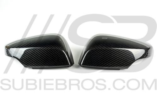 Subie Bros Carbon Fiber Mirror Caps (w/ Signal Cutout)
