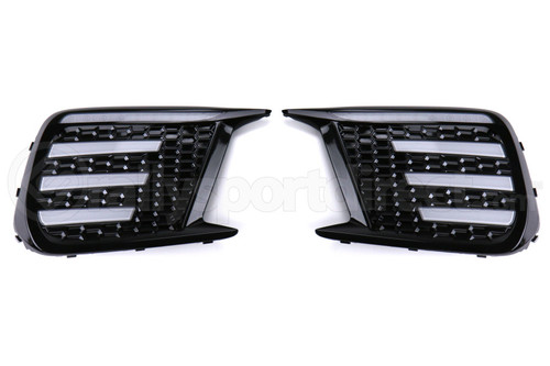 OLM Tri Bar Fog Light Bezel - for 2018+ WRX/STI (Clear or Smoked)