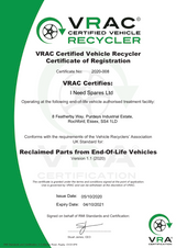 VRAC Certification Achieved Successfully!
