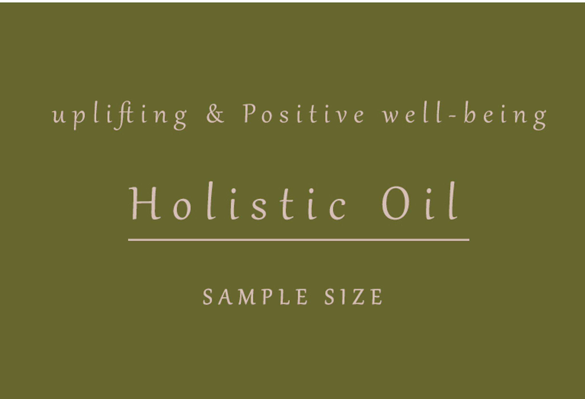 Holistic Facial Oil ( natural retinol)  3ml Sample